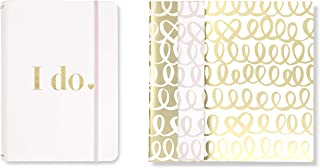 Kate Spade New York Bridal Triple Notebook Folio Set, Includes 3 Small Notebooks with 80 Pages Each, I Do (gold)