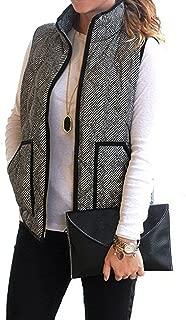 AKEWEI Womens Sherpa Fleece Zipper Vest Warm Outwear with Pockets