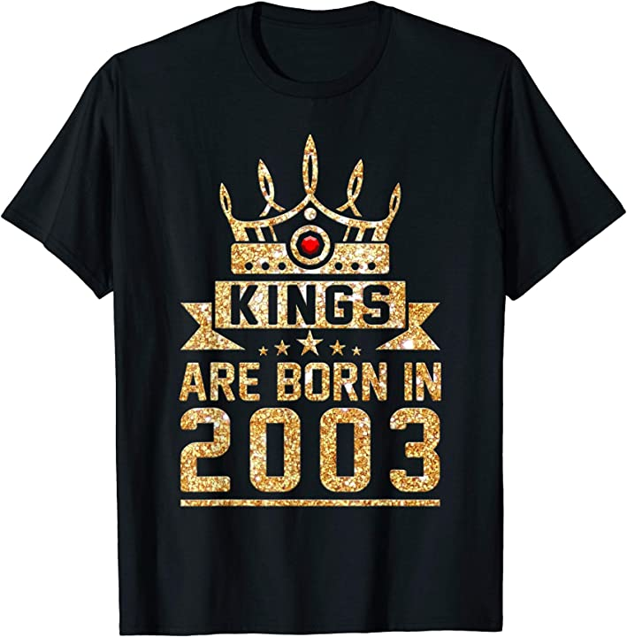 Kings Born In 2003 16th Birthday Gift 16 Years Old Awesome