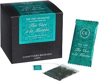 Comptoirs Richard Mint Green Tea (Thé Vert à la Menthe Tea) - 40 Sachets