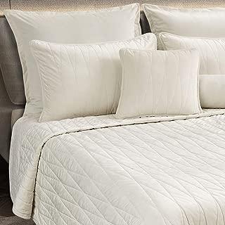 Maison Atlas Velvet Quilt, Jewel Premium Velvet Collection, Cotton Backing, Cotton Batting, King, Pearl White