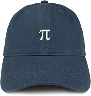 Trendy Apparel Shop Pie Math Symbol Small Embroidered Cotton Dad Hat