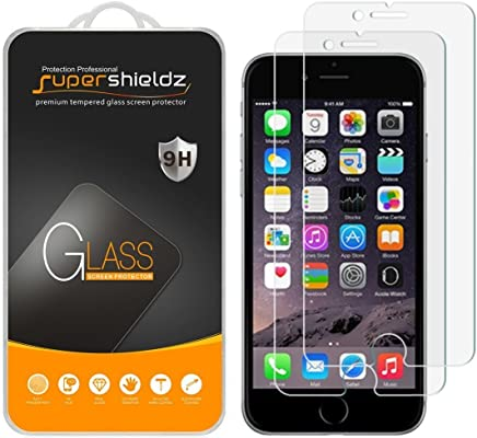 Supershieldz [2-Pack] for iPhone 6S Plus/iPhone 6 Plus Tempered Glass Screen Protector, Anti-Scratch, Bubble Free, Lifetime Replacement