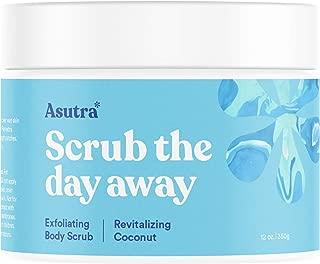 ASUTRA Dead Sea Salt Body Scrub Exfoliator (Revitalizing Coconut), 12 oz | Ultra Hydrating, Gentle, Moisturizing | All Natural & Organic Jojoba, Sweet Almond, Argan Oils
