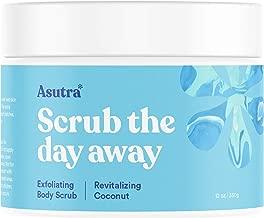 ASUTRA Dead Sea Salt Body Scrub Exfoliator (Revitalizing Coconut), 12 oz   Ultra Hydrating, Gentle, Moisturizing   All Natural & Organic Jojoba, Sweet Almond, Argan Oils