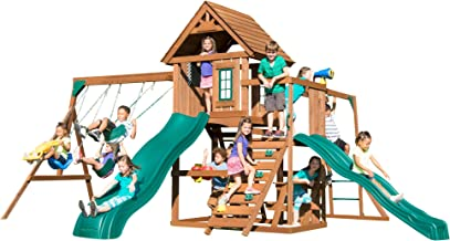 Swing-N-Slide WS 8354 Knightsbridge Super Swing Set with Two Slides, Monkey Bars, Climbing Wall, Music Play & Climbing Wal...