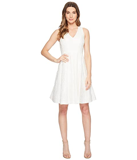 Maggy London Leafy Flower Burnout Fit Flare Dress At Zappos