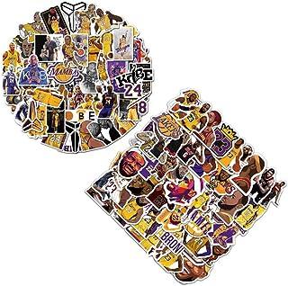 100 Pcs NBA Lakers Stickers,50 Kobe Stickers+50 James Stickers, Basketball Star Stickers,Hydroflask Bottles Waterproof Vin...