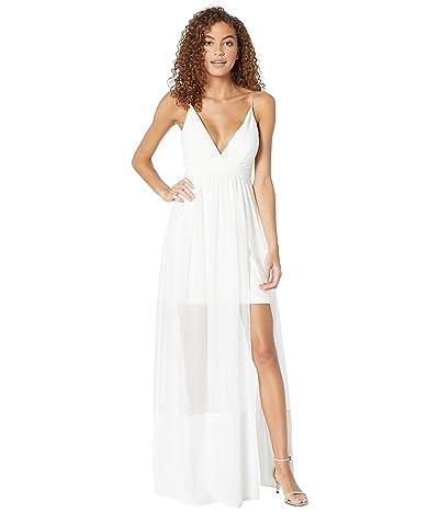 Nicole Miller Chiffon Maxi Dress (Ivory) Women