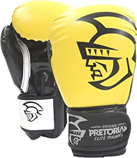 Luva De Boxe/Muay Thai Pretorian Elite Training Pretorian 12Oz Amarela