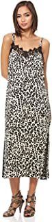 Juicy Couture BLACK LABEL Women's Leopard ss Satin Slip Dress