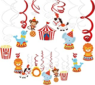 30Ct Carnival Circus Party Supplies Hanging Swirl Ceiling Streamers Decorations for Girls,Boys,Kids Home,Classroom,Baby Showers, Thankgiving,Chrismas,Happy New Year