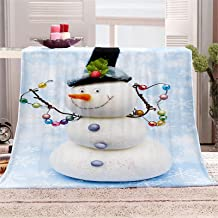 Chickwin flanelowy koc Boże Narodzenie, koc z nadrukiem 3D z mikrofibry miękka narzuta koc lekki puszysty ciepły wygodny k...