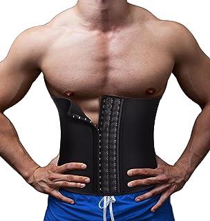 ba58b4621f TAILONG Men Waist Trainer Belt Workout for Body Weight Loss Fitness Fat  Burner Trimmer Band Back