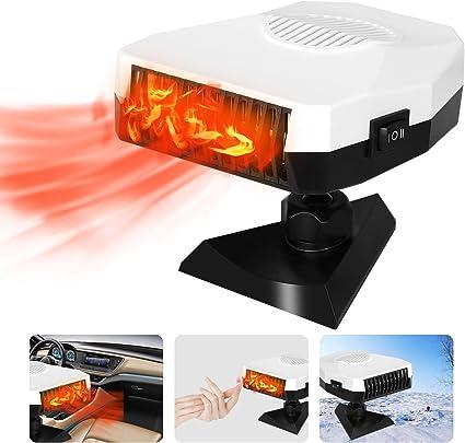 Portable Car Heater 12V 150W Car Defroster Defogger, 2 in 1 Car Heater & Cooling Fan, Winter Car Heater Plug Into Cigarette Lighter, 30 Seconds Fast Heating: image