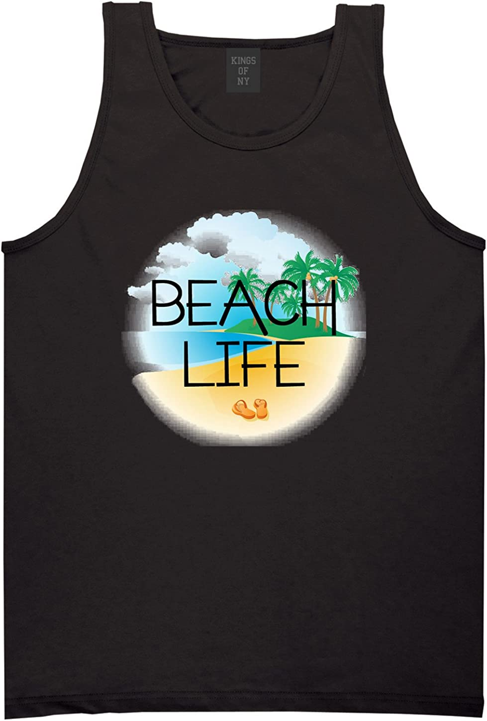 Kings Of NY Beach Life Surf Venice Muscle Camp Style Tank Top
