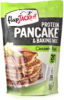 FlapJacked High Protein Pancake, Waffle & Baking Mix, Cinnamon Apple | 20g Protein | Low Carb | High Fiber