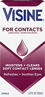 Visine For Contacts Rewetting Drops , 0.5 Fluid Ounce (15 ml)