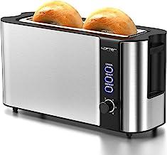 توستر اسلات بلند ، توستر 2 اسلایس دارای بهترین رده بندی دارای رک گرم کننده ، اسکروهای نان تستر نان فولادی ضد زنگ 1.7 اینچی ، 6 تنظیمات سایه نان ، عملکرد یخ زدایی / گرم شدن مجدد / لغو ، سینی خرده متحرک ، 1000 وات ، نقره ای