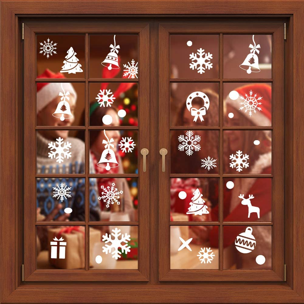 Christmas Snowflake Window Cling Stickers C 253 PCS Super beauty product restock Memphis Mall quality top Decorations