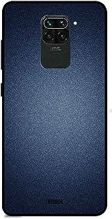 Theodor Xiaomi Redmi Note 9 6.53 Inch Case Blue Texture Silicone Cover