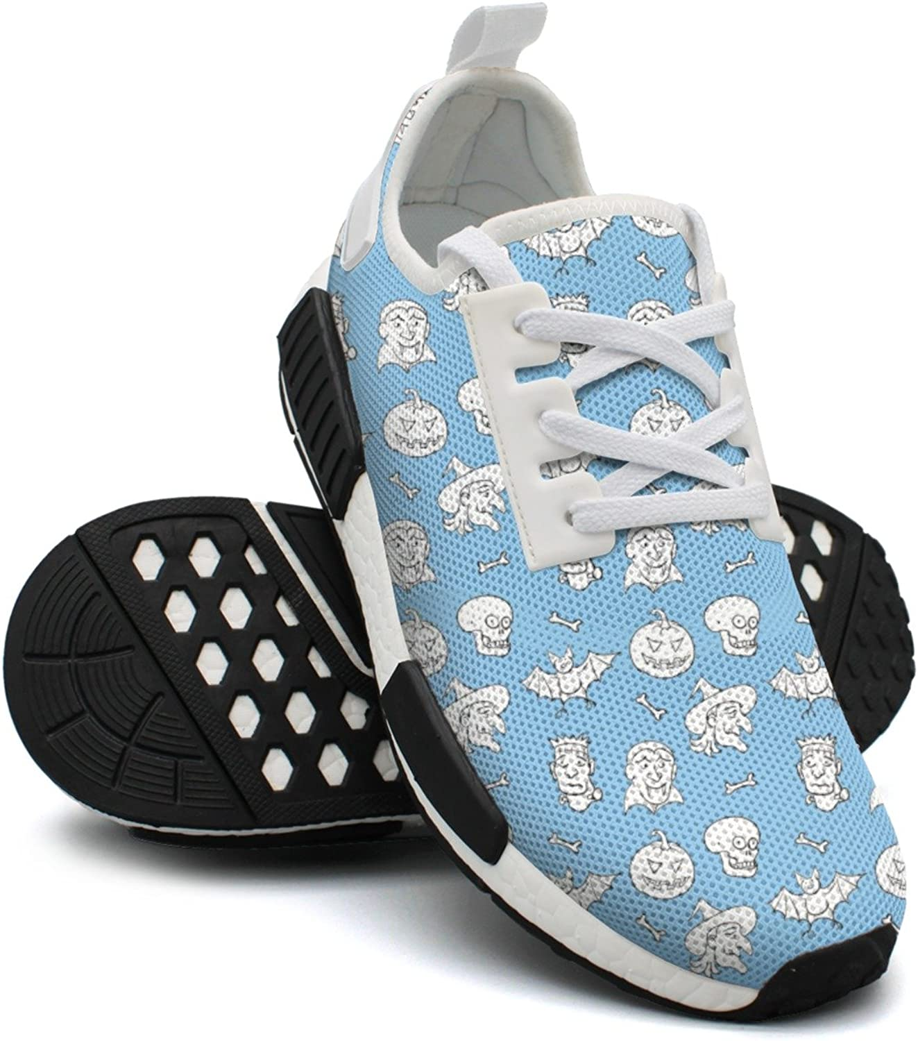 Skulls Halloween Fun Pattern Trail Running shoes For Women Nmd Casual Sport shoes