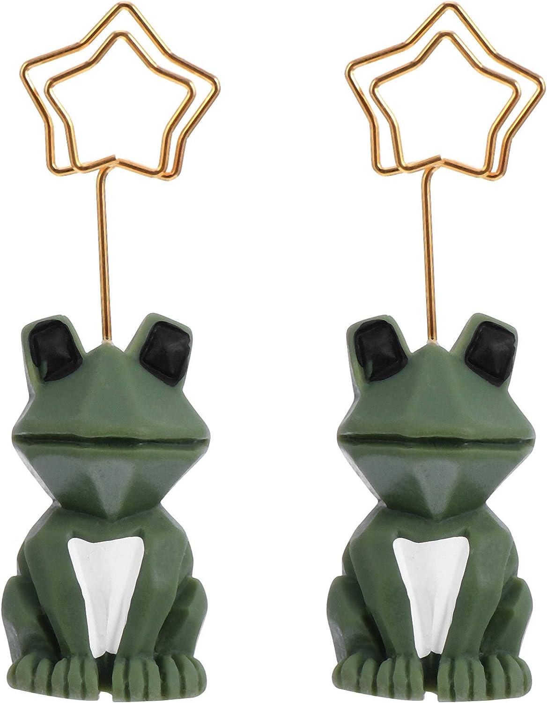 GARNECK 2 Pcs Creative Place Some reservation Card 3D Holders Statue Animal Frog Save money