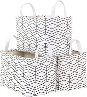 Kaaltisy 3 Pack Open Storage Basket Bins Shelves Closet Organizer Baby Nursery Baskets Foldable Storage Organization Conta...