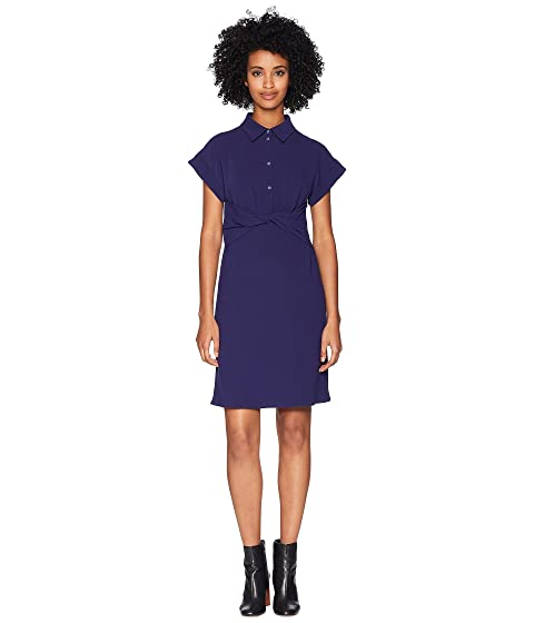 Boutique Moschino Crepe Dress with Knotted Waist