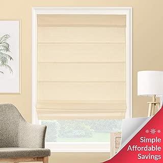 CHICOLOGY Roman Shades Rustic 100% Cotton Cascade Window Treatment, 27