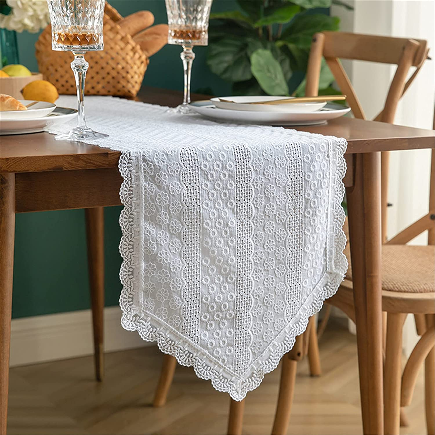 JLCP Beauty products Macrame Table Runner Boho White Wedding Fa Tablecloths Max 44% OFF Lace