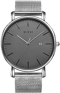 BUREI Men's Fashion Minimalist Wrist Watch Analog Date...
