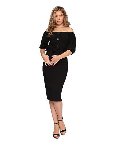 80a91c9bf7e5 Ladies Bodycon Dress: Amazon.co.uk