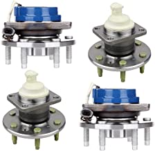 Bodeman - (4) Front Rear LEFT RIGHT Wheel Hub and Bearing Assembly for 2006 2007 2008 2009 Chevy Uplande Pontiac Montana/ 2006-2007 Buick Terraza Saturn Relay - FWD; Rear Hub W/Rectangular Flange