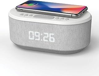 سحر: ساعت زنگ دار رادیو همراه با شارژر USB، اسپیکر بلوتوث، شارژ بی سیم QI، زنگ هشدار دوگانه و نمایشگر LED قابل تنظیم