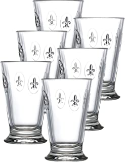 La Rochere Set Of 6, 10-ounce Fleur De Lys Double Old Fashioned Glasses