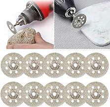 NLLeZ 10pcs Discos de Corte de 22 mm de Acero al Carbono Mini Sierra Circular de Cuchillas rotativas Herramienta for el Metal de Corte Herramienta eléctrica de Madera Taladro Mandril de Corte