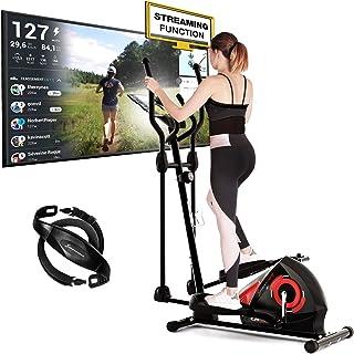 Sportstech CX608 Crosstrainer met Kinomap-app en bluetooth-console, gratis polsband inbegrepen, compatibele ellipstrainer,...
