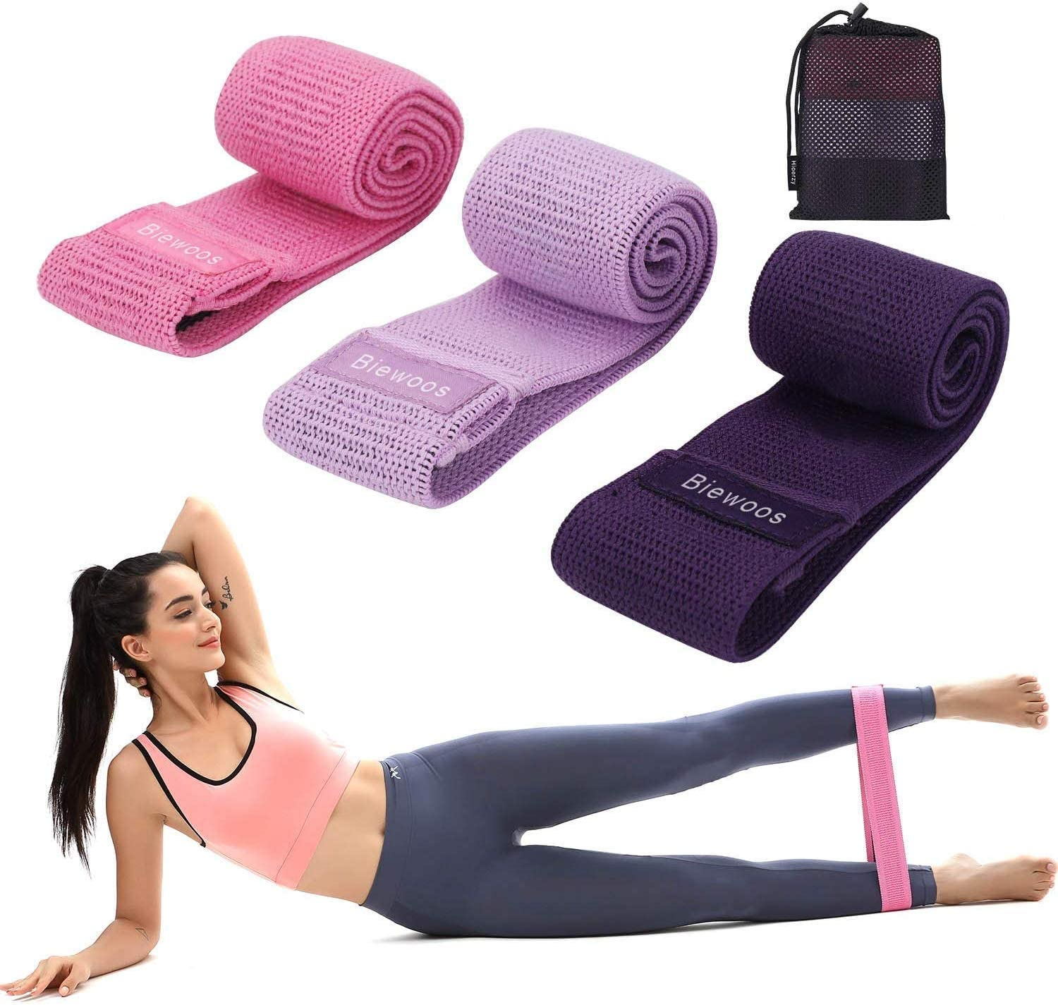 EVO Resistance Bands Elastic Legs Loop Fabric Indoor Exercise Fitness HIP CIRCLE