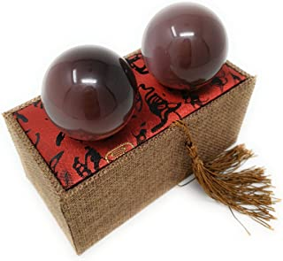 Artificial Tiger Eye Crystal Gemstone Quartz Chinese Health Stress Exercise Baoding Balls (Violet)