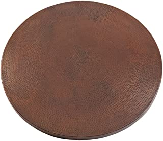 """Premier Copper Products TTR24DB 24"""" Round Hammered Copper Table Top"""
