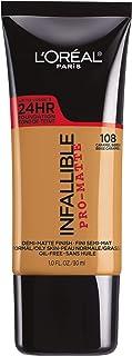 L'OREAL Infallible ProMatte Foundation Liquid 108 Caramel Beige 1 fl. oz. 30 ml