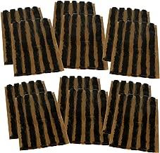 AERZETIX: Lot de 60 mèches 6mm 10cm Noir pour kit de réparation de Pneu C40657