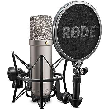 Rode Microphones - NT1A Microfono a diaframma largo per studi di registrazione / podcast, 19 x 5 x 5cm, 24V/48V, Oro