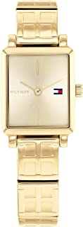 TOMMY HILFIGER TEA SQUARE WOMEN's GOLD DIAL WATCH - 1782326
