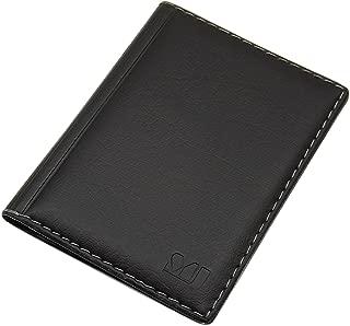 Gli Uomini in Pelle ID Card Holder Badge di credito Custodia Slim REEL nome Cordino Borsa Wallet
