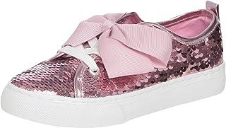 JoJo Siwa Girls Slip On Sneakers with Twin Gore Elastic and Signature Bow (Little Kid/Big Kid)