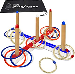 Best Ring Toss Deluxe – Includes 16 Rings, 8 Rope & 8 Plastic. Carry Bag Included – Easy to Assemble – Fun Family and Friends Toss Yard Games for Kids – Outdoor Toys for Kids Review