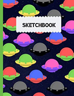 Sketchbook: Alien Ufo Design 120 Blank Pages For Sketching And Drawing