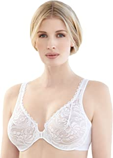 Glamorise Women's Plus-Size Elegance Front Close Lace Underwire